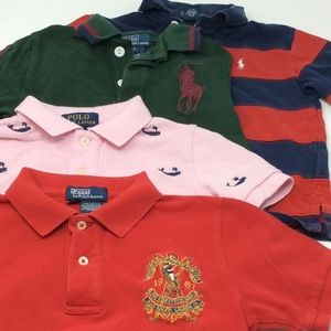 Polo Ralph Lauren Toddlers Size 4T Shirts Kids Lot